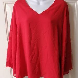 Alfani blouse chinese red large